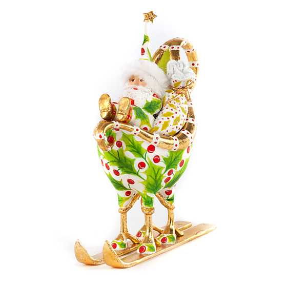 Patience Brewster Dash Away Santa in Sleigh Ornament image one