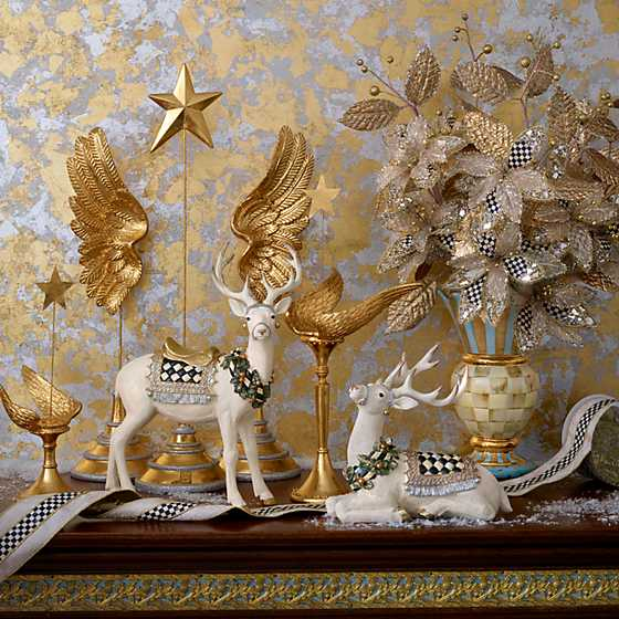 Patience Brewster Golden Angel Wing Candle Holder - Tall image two