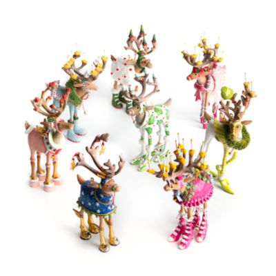 Image for Patience Brewster Dash Away Reindeer Mini Ornaments Set