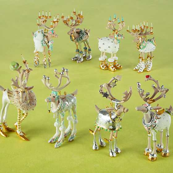 Patience Brewster Moonbeam Reindeer Mini Ornaments Set image two