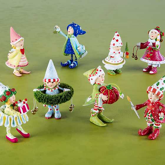 Patience Brewster Dash Away Elves Mini Ornaments Set image two