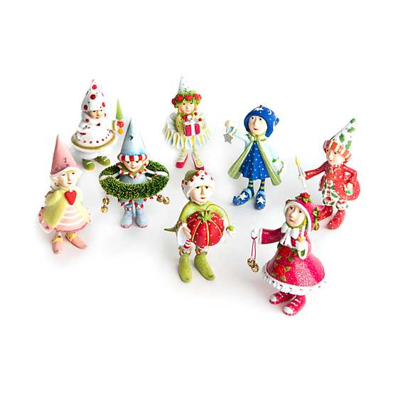 Patience Brewster Dash Away Elves Mini Ornaments Set