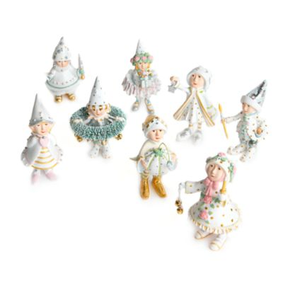 Patience Brewster Moonbeam Elves Mini Ornaments Set