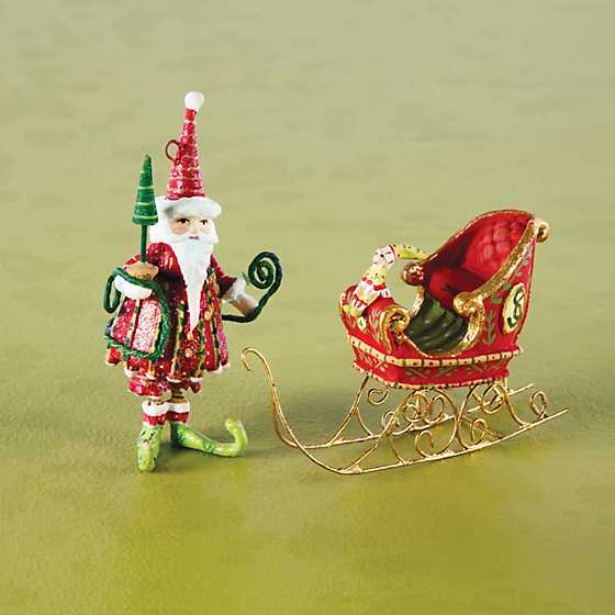 Patience Brewster Dash Away Santa Mini Ornaments Set image two