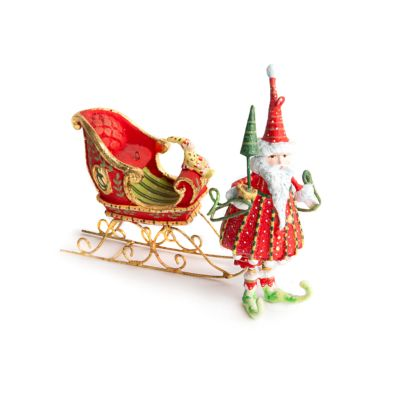 Patience Brewster Dash Away Santa Mini Ornaments Set