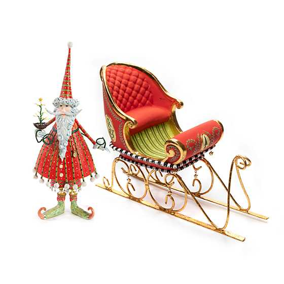 Patience Brewster Dash Away Santa & Sleigh Figure Set