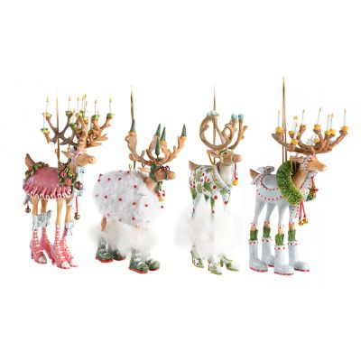 Patience Brewster Dash Away Reindeer Ornament Set