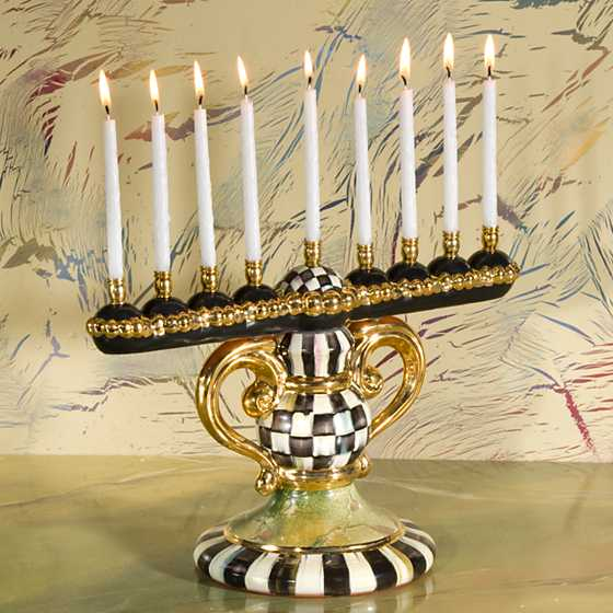 Courtly Check Menorah image two