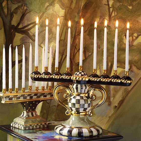 Courtly Check Menorah image three