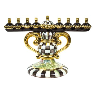 Courtly Check Menorah