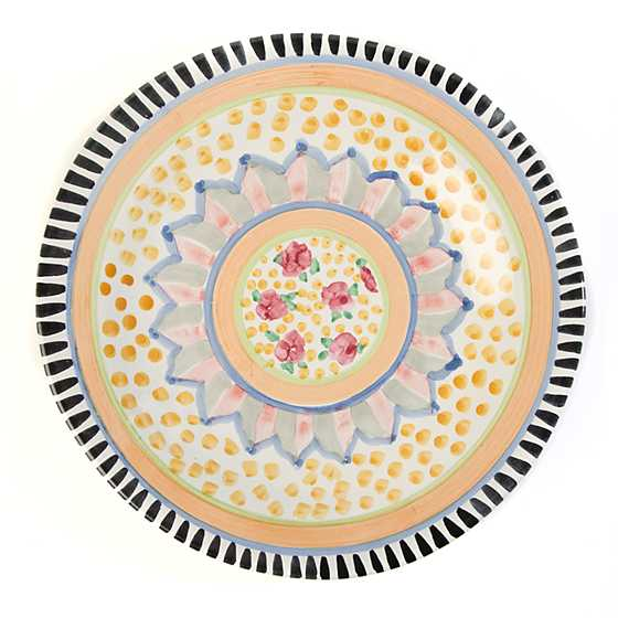Taylor Flat Dinner Plate - Cabbage Rose image one
