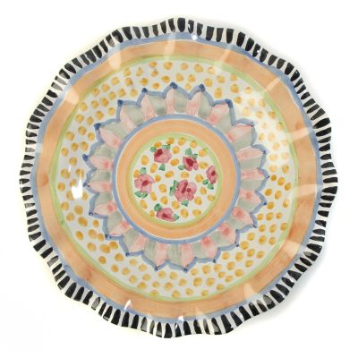 Taylor Fluted Dinner Plate - Cabbage Rose