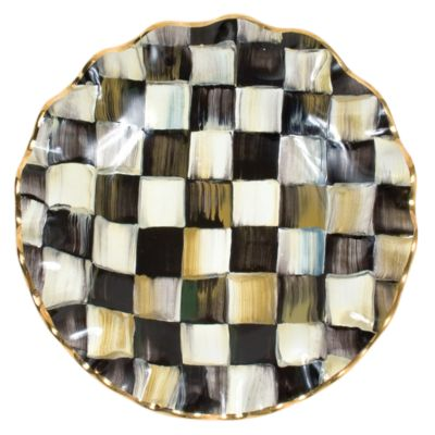 Courtly Check Fluted Dessert Plate