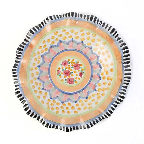 Taylor Fluted Luncheon Plate - Cabbage Rose