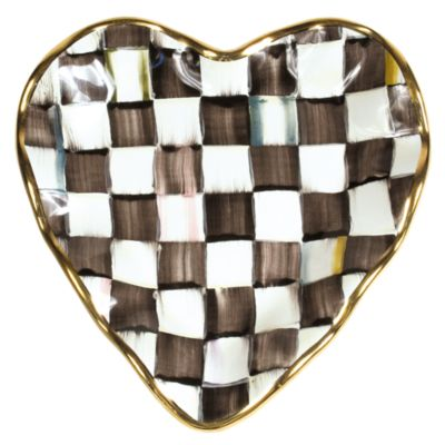 Courtly Check Fluted Heart Plate