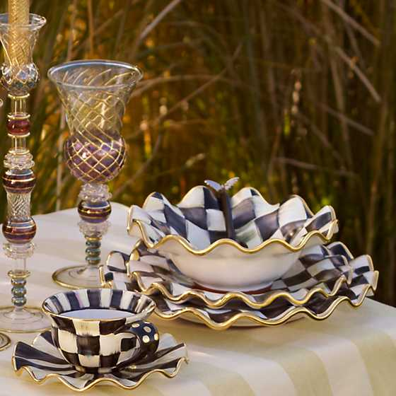 Courtly Check Fluted Breakfast Bowl image three