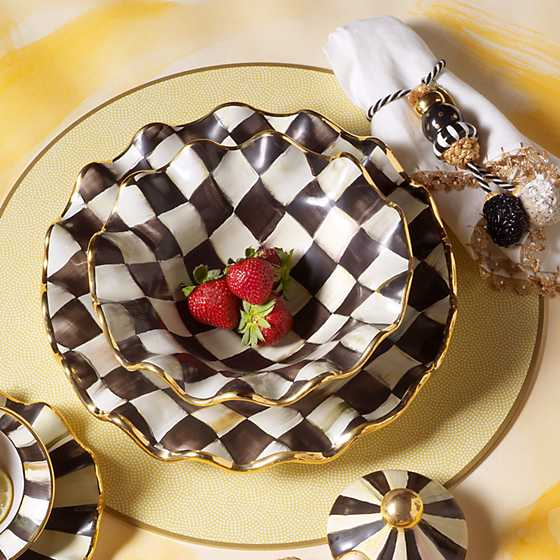 Courtly Check Fluted Breakfast Bowl image four