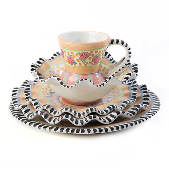 Taylor Fluted Breakfast Bowl - Cabbage Rose image four