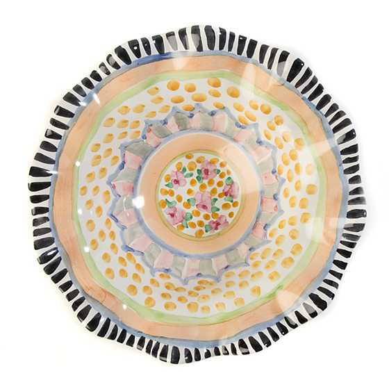 Taylor Fluted Breakfast Bowl - Cabbage Rose image three