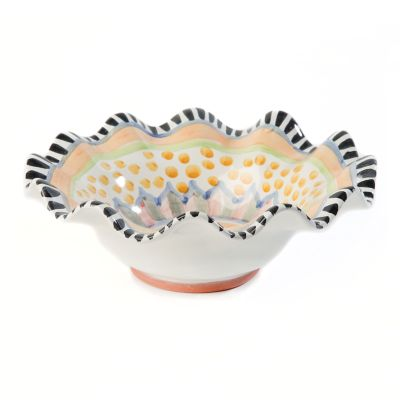 Taylor Fluted Breakfast Bowl - Cabbage Rose