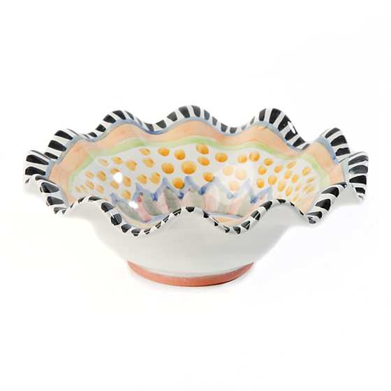 Taylor Fluted Breakfast Bowl - Cabbage Rose image one