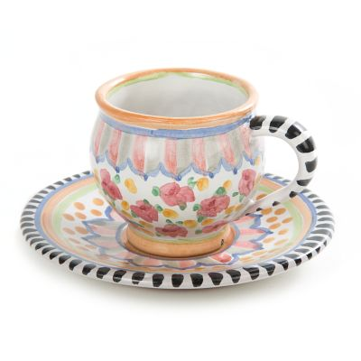 Taylor Espresso Cup & Saucer - Cabbage Rose