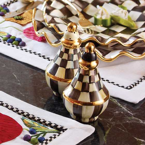 Courtly Check Salt & Pepper Shaker Set image three