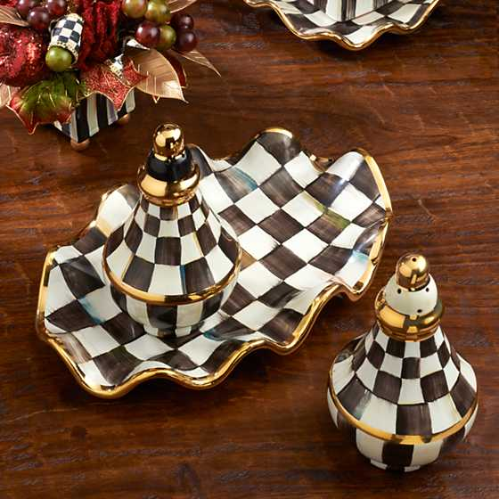 Courtly Check Salt & Pepper Shaker Set image seven