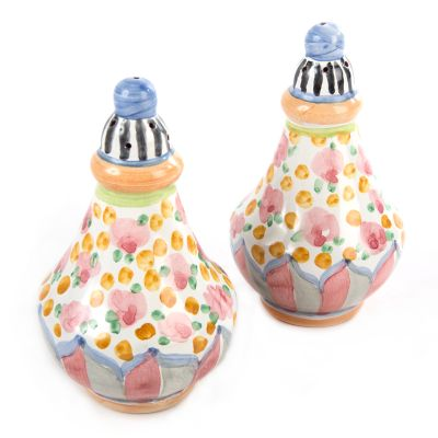 Taylor Salt & Pepper Shaker Set - Cabbage Rose
