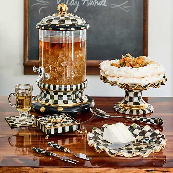 ... Courtly Check Fluted Cake Stand ... & MacKenzie-Childs | Courtly Check Fluted Cake Stand