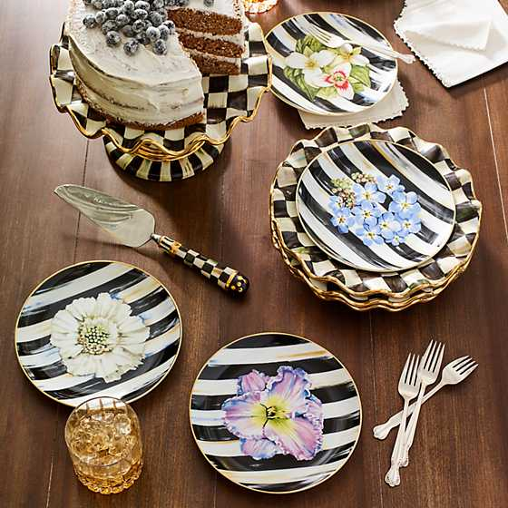 Courtly Check Fluted Cake Stand image three