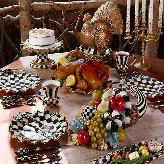 Courtly Check Fluted Cake Stand image four