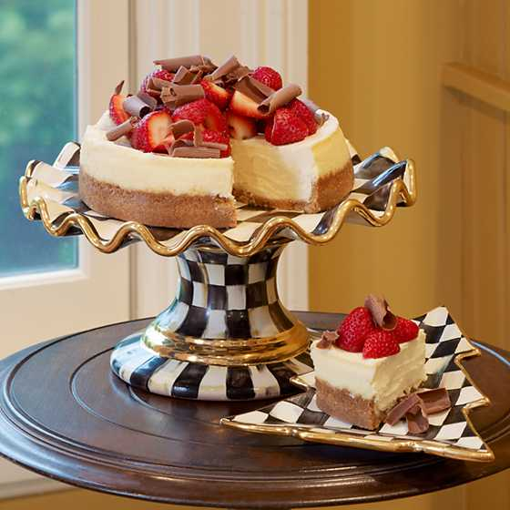 MacKenzie-Childs | Courtly Check Fluted Cake Stand