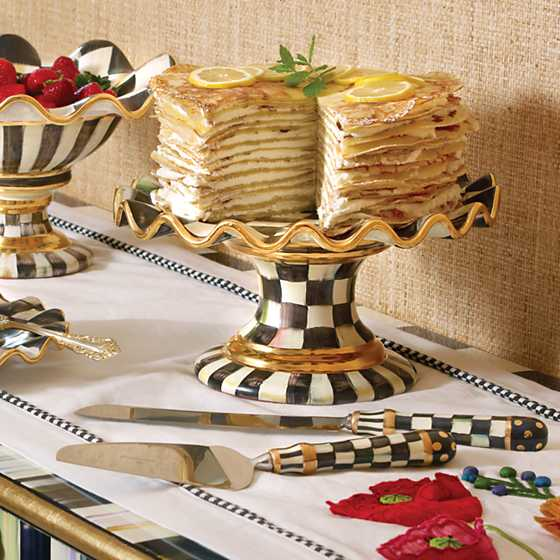 Courtly Check Fluted Cake Stand image six
