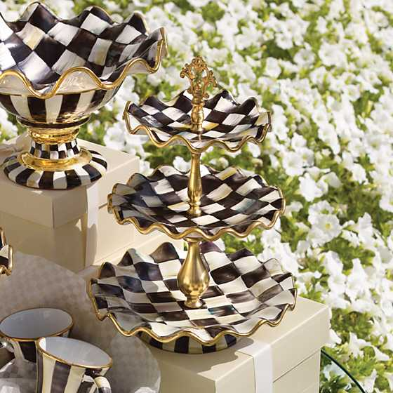 Courtly Check Three Tier Sweet Stand image five