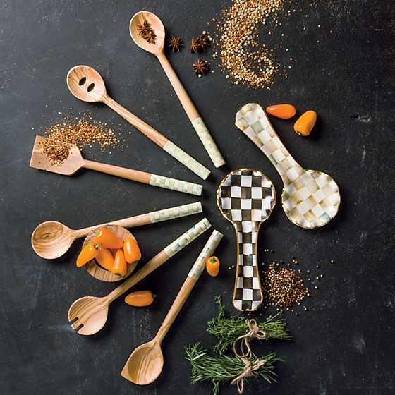 Parchment Check Spoon Rest