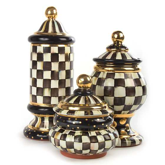 Courtly Check Globe Canister image three