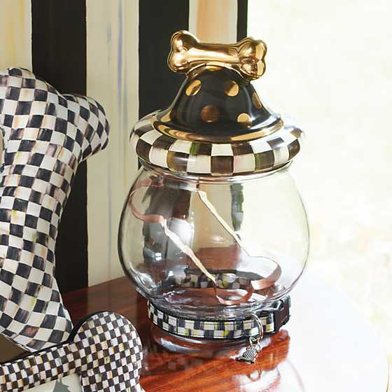 Courtly Check Canine Cookie Jar image two