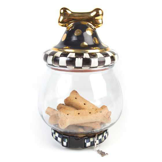 Courtly Check Canine Cookie Jar image three
