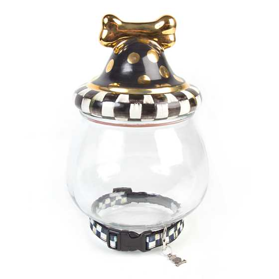Courtly Check Canine Cookie Jar image one
