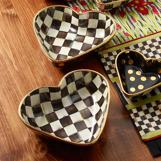 Courtly Check Heart Bowl - Large image two