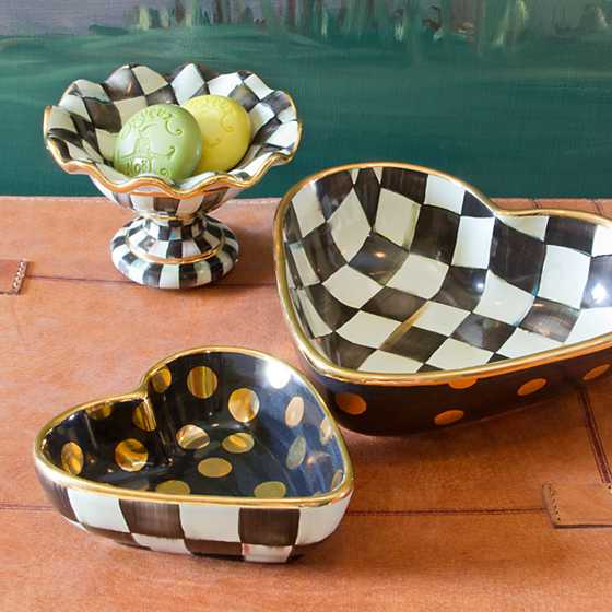 Courtly Check Heart Bowl - Large image five