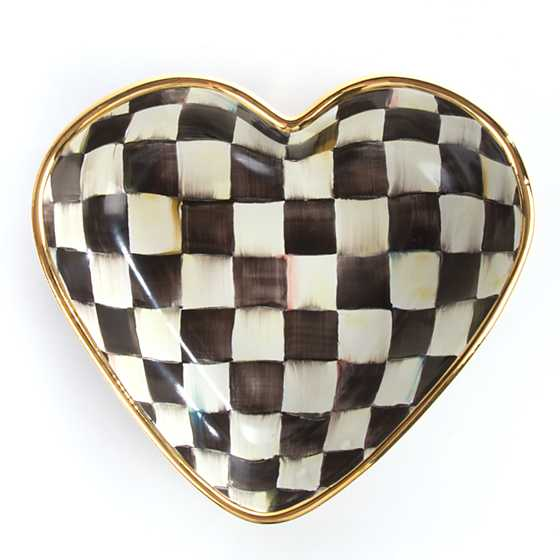Courtly Check Heart Bowl - Large image three
