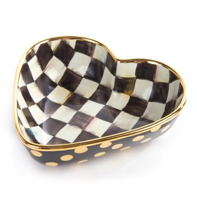 Courtly Check Heart Bowl - Large