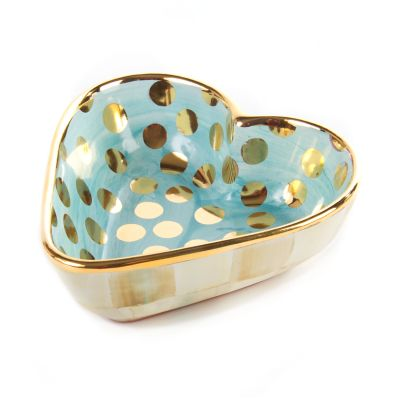 Parchment Check Heart Bowl - Small