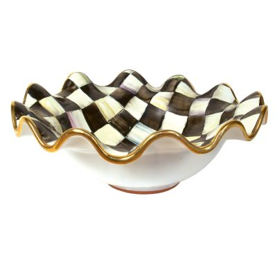 Courtly Check Medium Fluted Serving Bowl