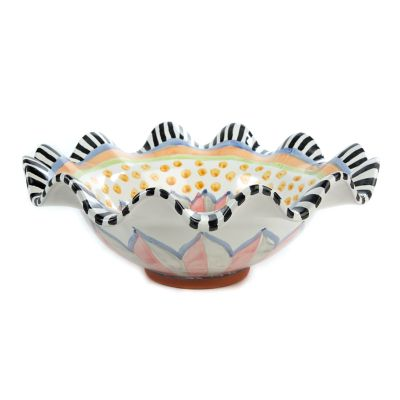 Taylor Medium Fluted Serving Bowl - Cabbage Rose