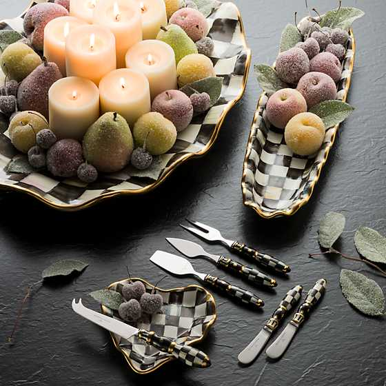 Courtly Check Large Serving Platter image two