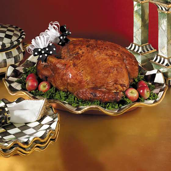Courtly Check Large Serving Platter image five