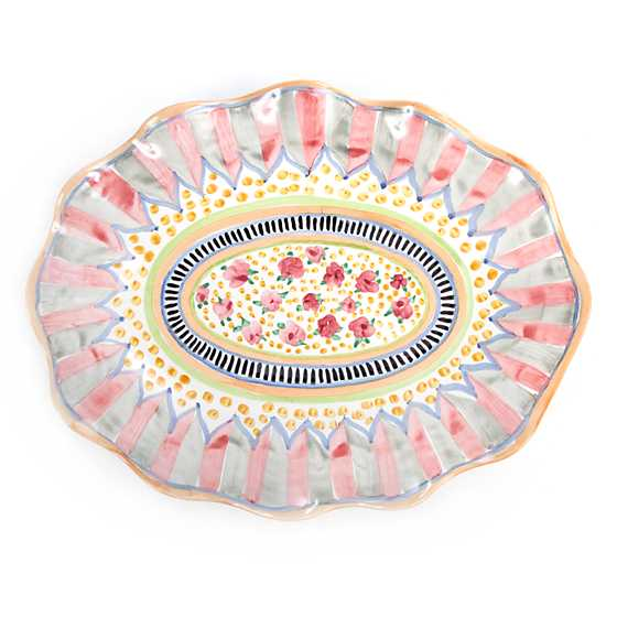 Taylor Large Serving Platter - Cabbage Rose